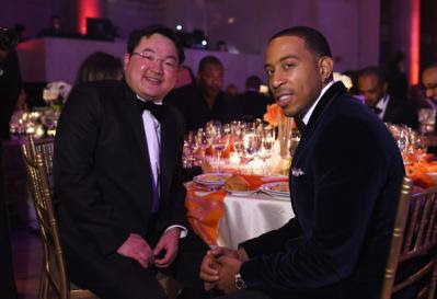 Jho Low with US rapper Ludacris in October 2014.