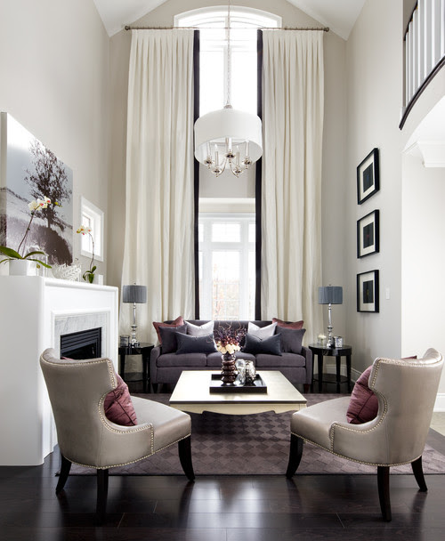 Transitional Living Room by Toronto Interior Designers & Decorators Jane Lockhart Interior Design