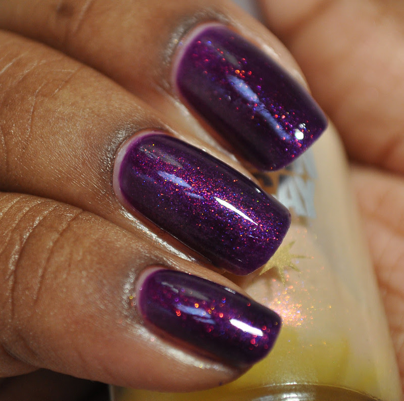 Verity Deep Violet Urban Decay Burnout jelly sandwich sponged manicure swatch review