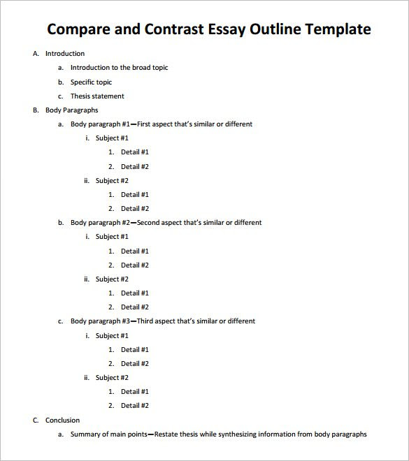 How to write a Compare and Contrast Essay: The Correct Structure