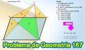 Problema de Geometría 167 (ESL): Paralelogramo, Punto Exterior, Diagonal Triangulo, Área.