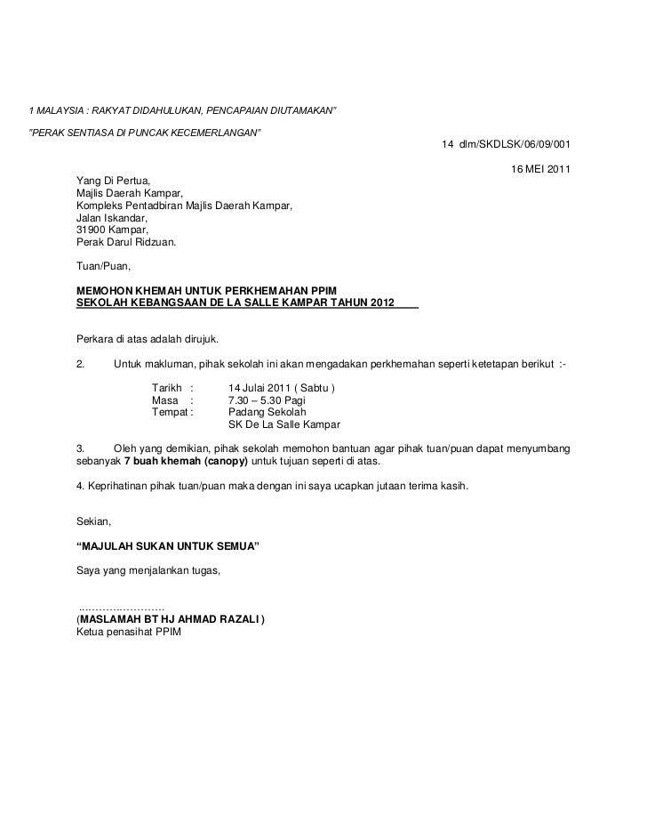 Contoh Surat Rasmi Malaysia - Contoh O