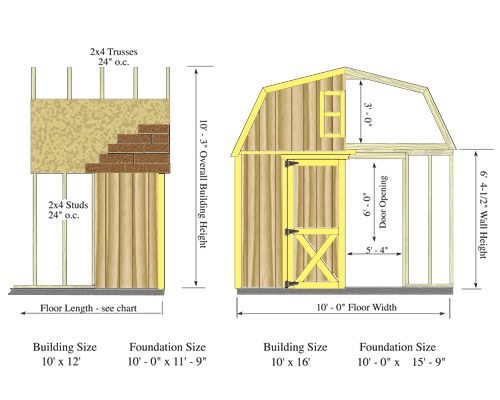 10 X 12 Shed Floor Plans