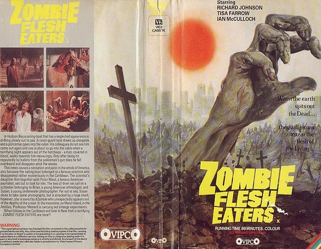 Zombie Flesh Eaters (VHS Box Art)