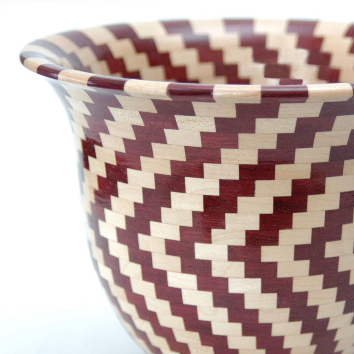 Purpleheart & Maple Segmented Vessel With Southwestern Flair - fostersbeauties