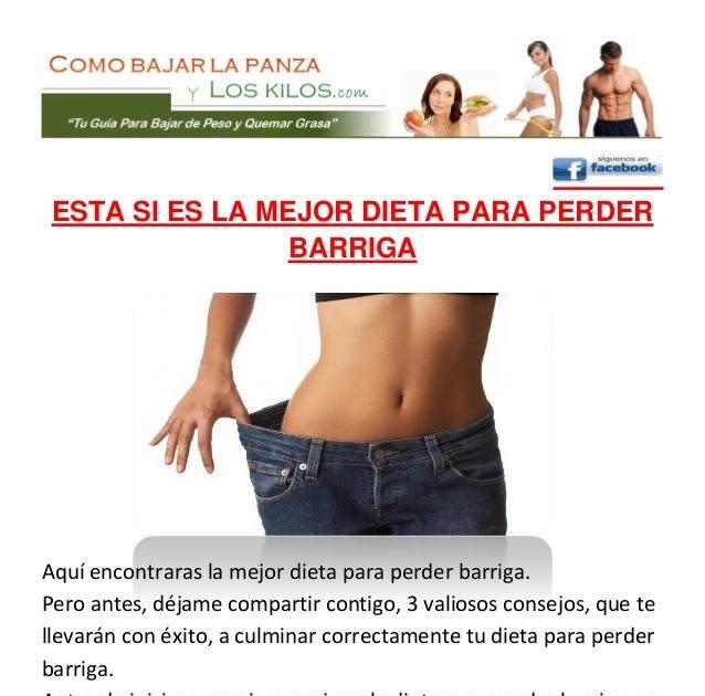 Dietas para bajar perimetro abdominal