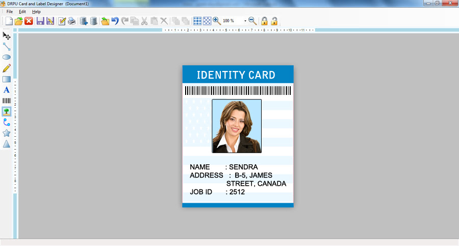 student id card design software free download