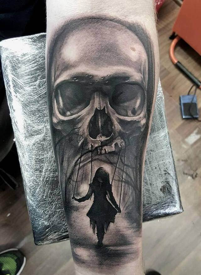 60 Black And Grey Skull Tattoos