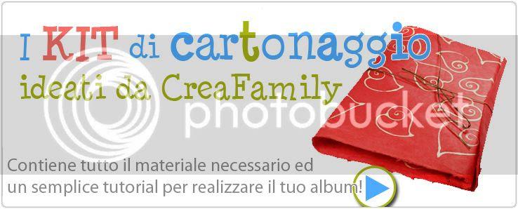 kit per cartonaggio fornito da creafamily per creare un album con la carta naturale