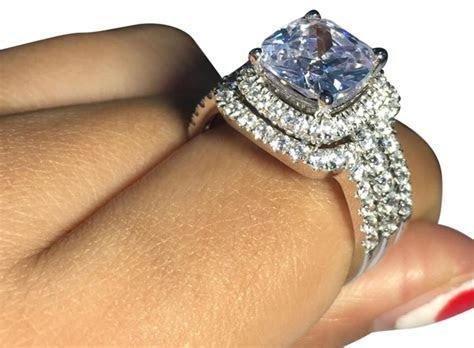 Pt 950 Platinum All Sizes Engagement Ring Women's Wedding