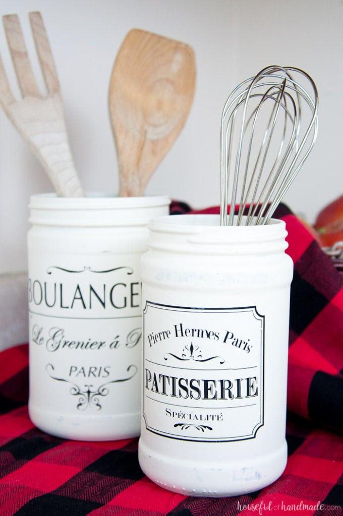 Farmhouse Kitchen Canister DIY - a Houseful of Handmade