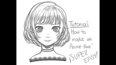 draw anime faces easy youtube