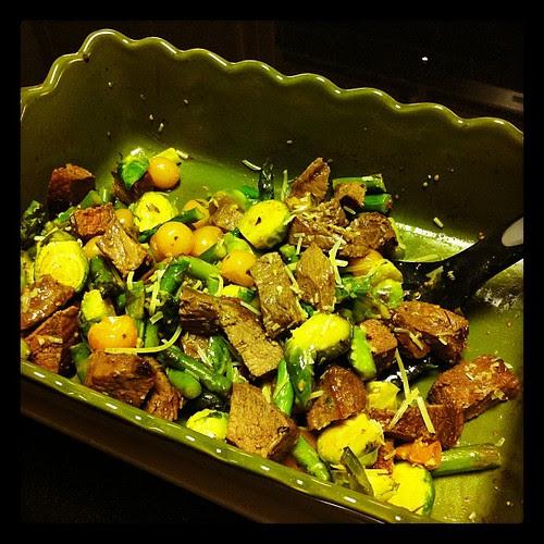 Steak & Roasted Veggie Salad