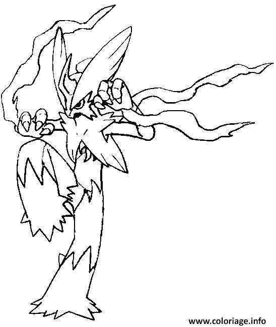 Coloriage Pokemon Mega Evolution Brasegali Jecoloriecom
