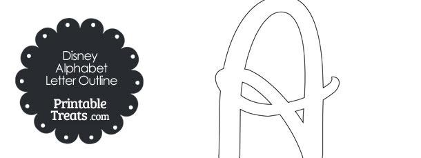 free printable disney letter a outline 610x229