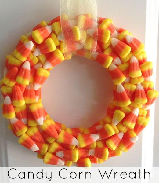 DIY Candy Corn Wreath by The Jenny Evolution