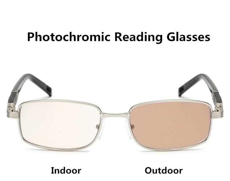 74ef6bc4e Comprar Liga De Titânio óculos Sol Photochromic Transição Óculos Leitura  Para Homens Presbiopia Hipermetropia Com Dioptrias Baratas Online Preço ~  ...