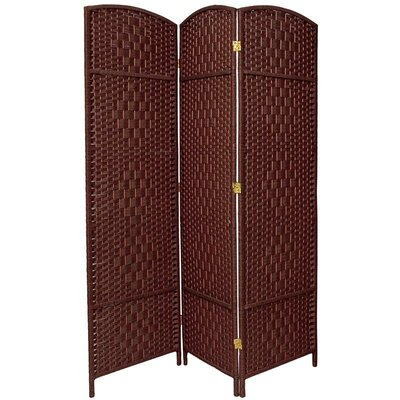 Oriental Furniture 6 Feet Tall Window Pane Fabric Room Divider in ...