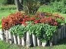 Bedroom: Small Flower Bed Ideas Garden Design With Log Lined ...