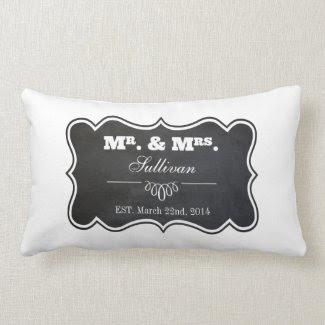 Chalkboard and Ornate Frame Throw Pillow