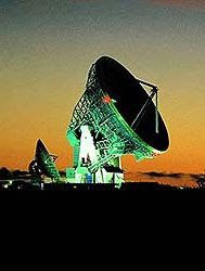 A satellite dish at the Goonhilly Earth Station in the United Kingdom.
