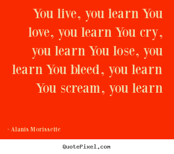 Love Quotes You Live You Learn You Love You Learn You