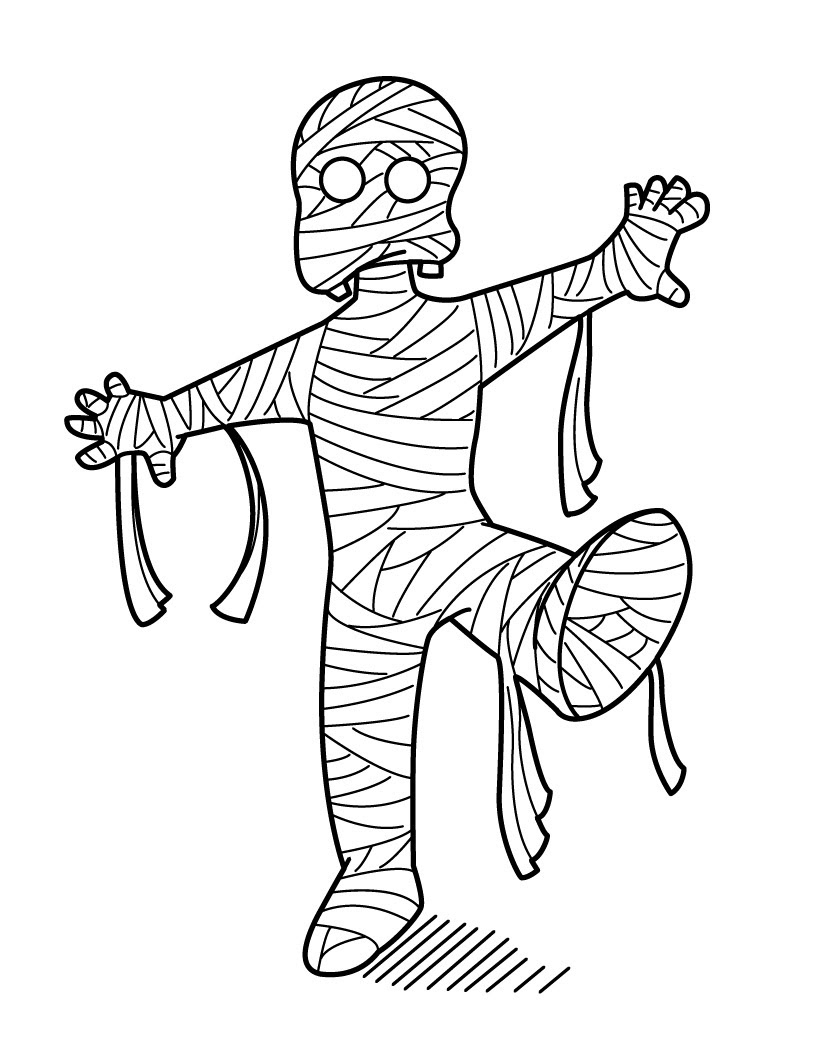 Mummy Coloring Page