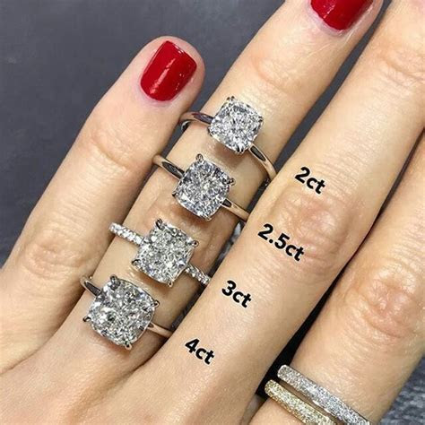 Ring carat size comparison on hand   I Do Sparkles in 2019