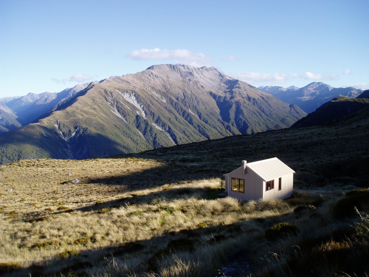 Hiker's hut near Arthur's Pass, New Zealand. 