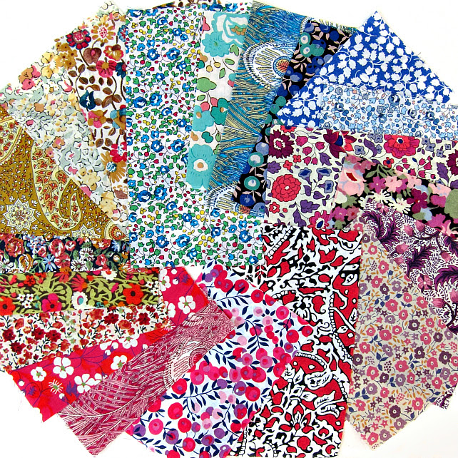 All the colours... Liberty rainbow scrap pack