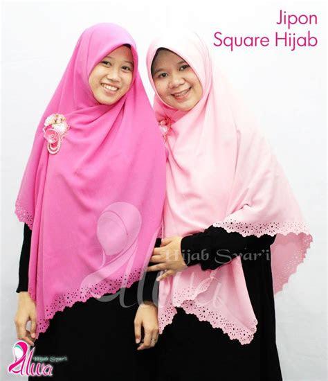memakai jilbab syar  segi empat tutorial hijab