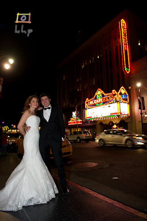 "The beautiful El Capitan Theater as the backdrop, the couple are using yet another Disney ""Landmark""!"