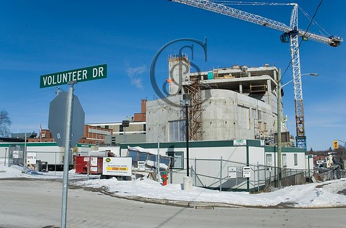 Orillia - Volunteer Drive is part of the new sections of OSMH, with an entrance to the ambulance bay, and the rear parking areas