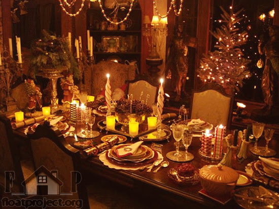Christmas table decoration  Home Designs Project