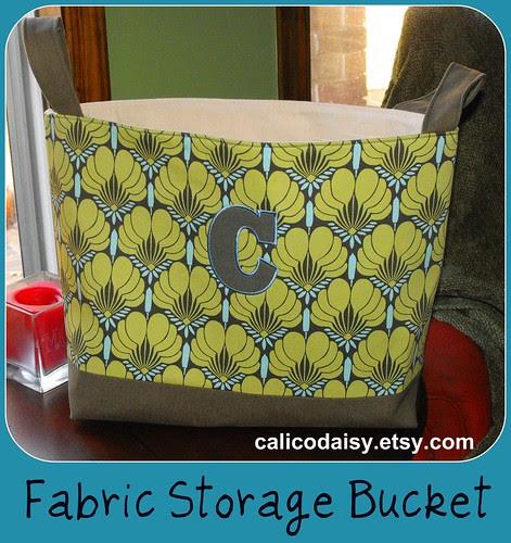 Fabric Storage Bucket