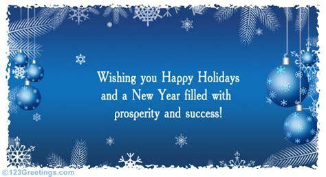 Formal Holiday Greetings  Free Business Greetings eCards