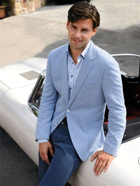 2017 Casual Style Blazer Light Blue Mens Wedding Prom
