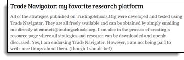 TheStrategyLab Review Emmett Moore Jr. Trade Navigator