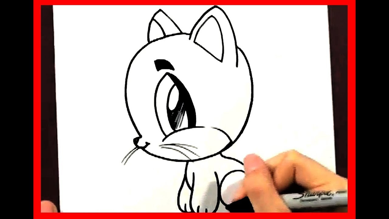 How to Draw a Cartoon Cat - How to Draw Easy Things ...