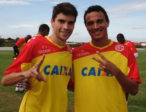Rodrigo Pimpão e Alfredo - América-RN (Foto: Edmo Nathan/Divulgação)