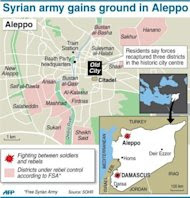 Map showing latest flashpoints in the Syrian conflict (AFP Photo/)