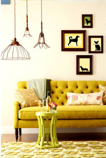 yellow tufted sofa simply grove