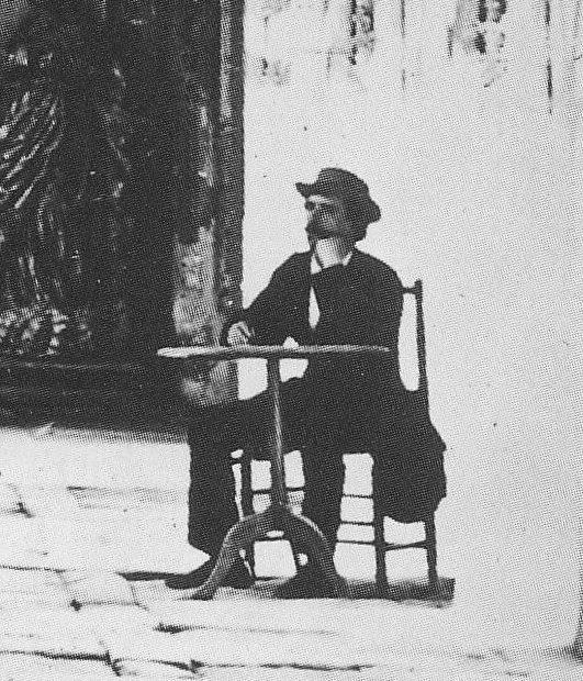 Detalle de una fotografía de Charles Clifford en el Claustro de San Juan de los Reyes hacia 1857