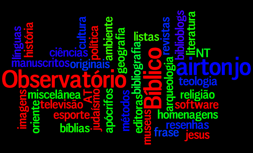 Tags do blog Observatório Bíblico