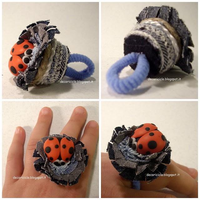 Collage anello coccinella