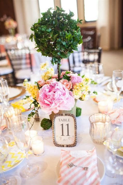 topiary centerpiece   secret garden wedding   White Dress