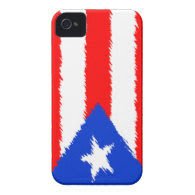 Puerto Rican Flag Case-Mate iPhone 4 Cases
