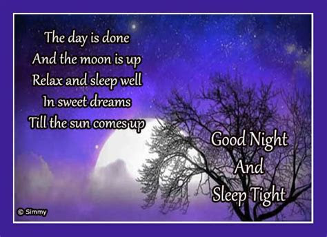 Good Night Wish Just For You  Free Good Night eCards