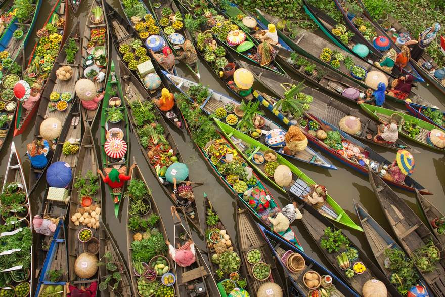 Third place travel category, Floating market, Malaysia