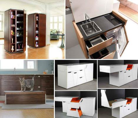 Cooking Lean: 13 Mini, Mobile, Modular & Motorized Kitchens   Urbanist